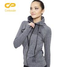 Codysale женские Толстовки Повседневное быстрый сухой с длинными рукавами Толстовка для отдыха Фитнес упражнения Куртки на молнии пальто с капюшоном Спортивная