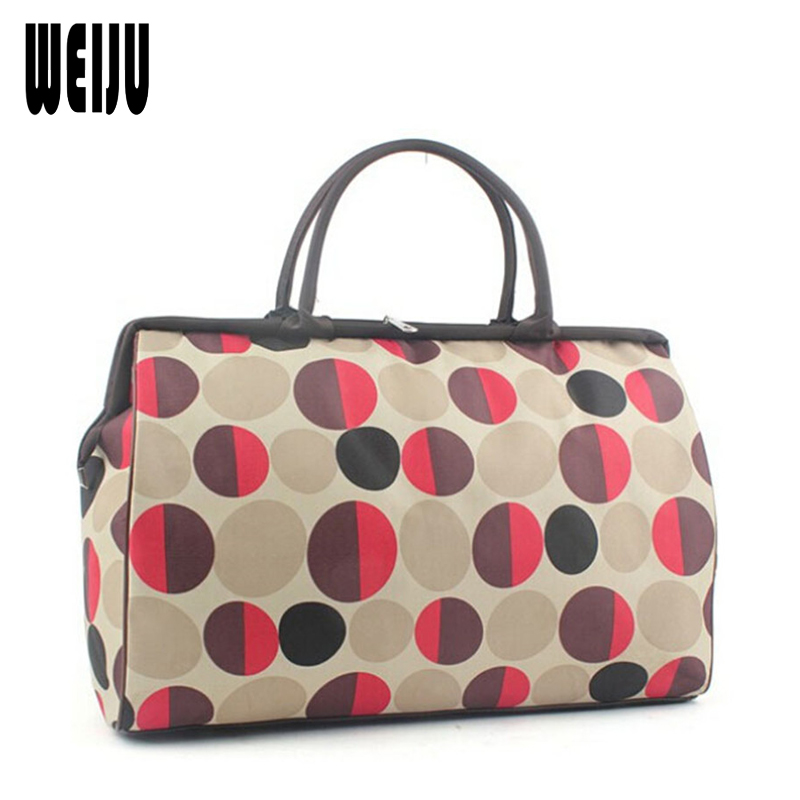 WEIJU Men Travel Bags 2017 Fashion Waterproof Large Capacity Luggage Duffle Bags Casual Handbag Women Travel