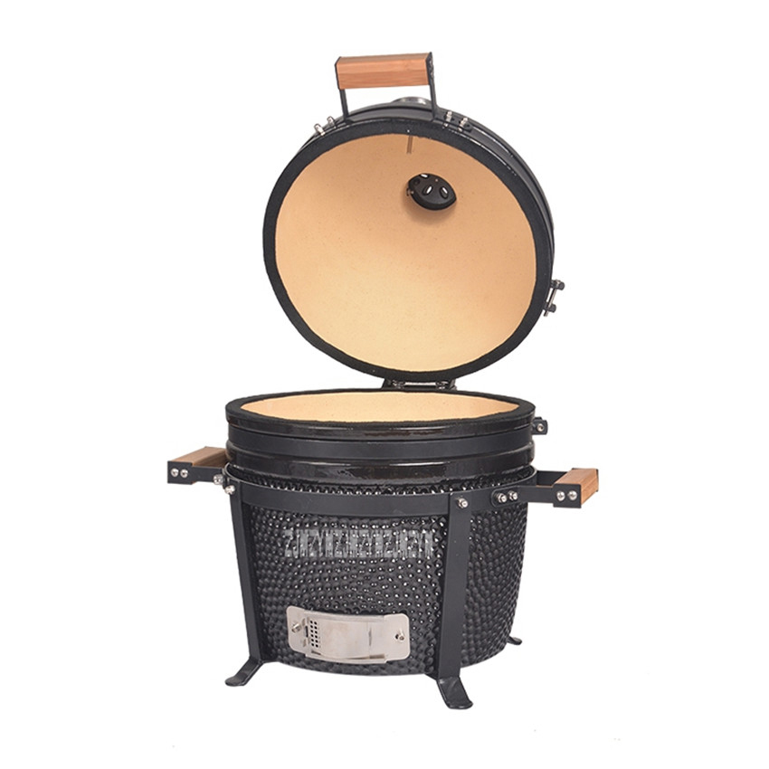 Egg Design Ceramic BBQ Grill Stove With Lid Charcoal Cooker Barbecue Grill Roast Ourdoor Stove