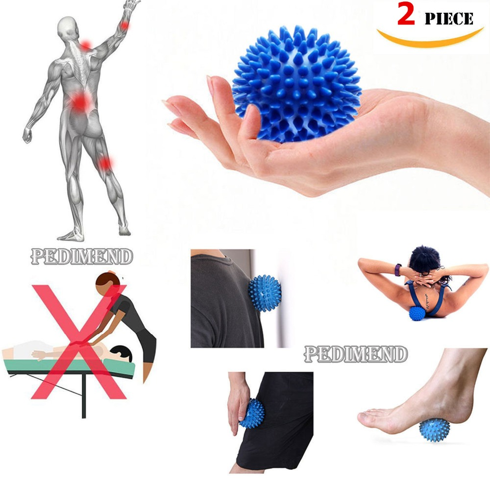 2pcs/lot Spiky Foot Sole Hand Massage Ball Yoga Sports Fitness Hand Foot Pain Relief Tool Muscle Relax Apparatus Random Color цена