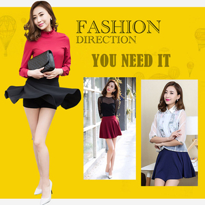 Image 5 - Plegie M 5XL Skirts Womens Plus Size Tutu School Short Skirt Pants Suitable For The Whole Year Mini Saia High Waist Faldas Mujer