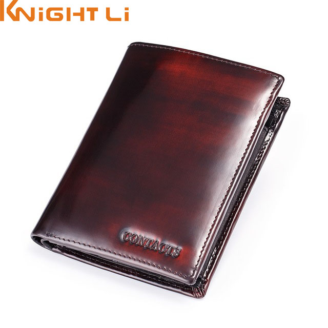 Italian Burnished Leather Wallet With Coin Bag Trifold Small Men Wallet With Credit Card Holder Brand Leather Purse new designer purse girl kawaii bag with zipper pu leather coin purses small women s wallet teen girl credit card pack 45