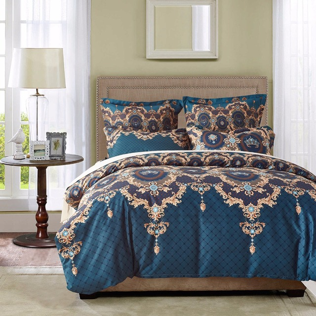 Patridgesky 2 3pcs Uk Us Mandala Bedding Set Duvet Cover Set Bed