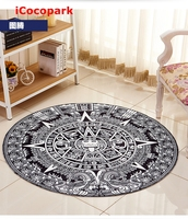 NiceRug Round Totem carpet living room coffee table bedroom blanket child spider computer upholstery mats