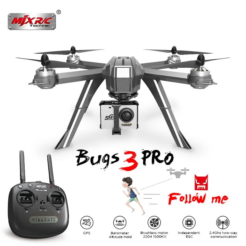 MJX Bugs 3 Pro B3 Pro Zangão RC com 1080 P Wifi Câmera FPV GPS Siga-me Modo Brushless RC helicóptero Quadcopter VS Bugs 5 W