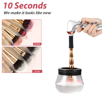 10 Seconds Electric Machine Cleaner Makeup Washing Up Dryer & Dry Brush Brushes Set Make Device Tools