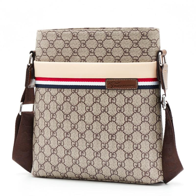 Classic Print Men Plaid Bag Business Office Bags for Men Casual Shoulder Bags Satchels Patchwork Messenger Bag Men Briefcases