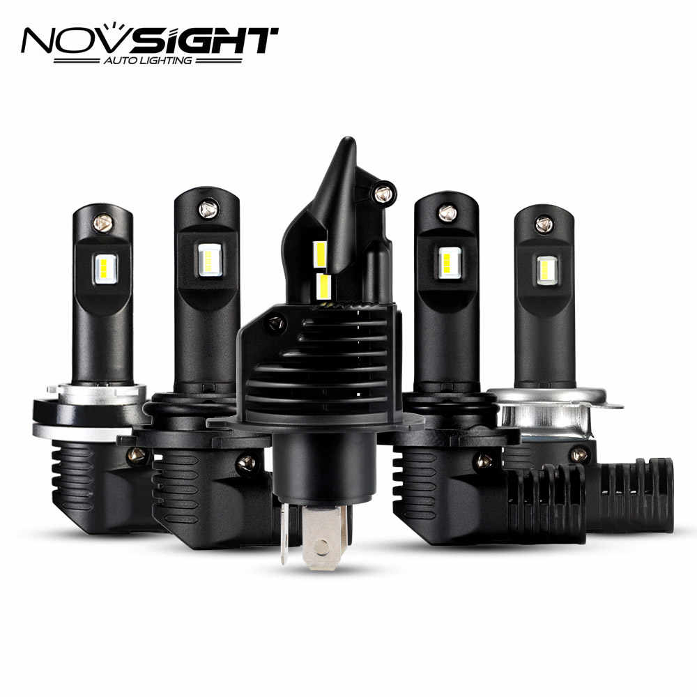 NOVSIGHT mini super LED H4 H7 Headlight Bulbs H11 LED H8 9005 9006 50w 10000lm 6500k White New 1:1  DESIGN Auto LED Lamps