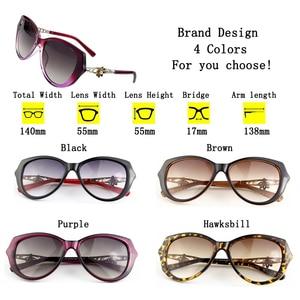 Image 5 - Sunglasses Women Charming Vintage Elegant Flower Decorate Ladies Sun Glasses Luxury Female Sexy Girl Eyewear