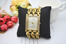 купить CUSSI Luxury Women Watches Gold Quartz Wristwatches Ladies Bracelet Watches Dress Watch Relogio Feminino Reloj Mujer Clock Gifts дешево