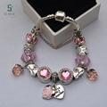 Hot sale Pulseira Feminina Charm bracelet for Women Fashion DIY Beads Jewelry Fit Original Charms Bracelets Pulseira Gfit