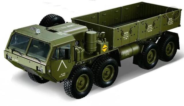 KTRC 8×8  8wd painted Body conversion kits For 1/10 1/12 scale RC Rock crawler Military Truck HG Axial SXC10 RC4WD 6X6 RC4WD D90