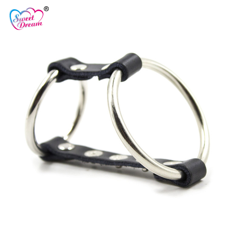 Sweet Dream Metal Hoop Cock Ring Adjustable Male Penis Rings Chastity Device Scrotum Bondage Adult Game Sex Toys for Men DW-348