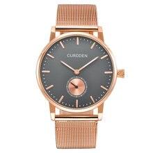 Минималистичные модные мужские часы роскошные брендовые водонепроницаемые