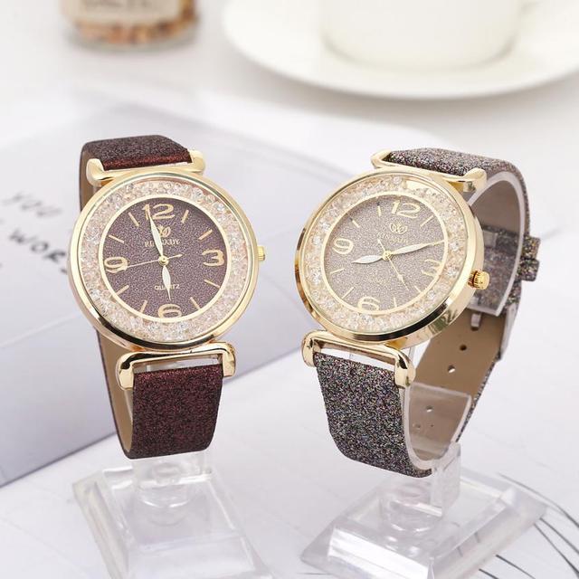 Fashion Women Crystal Stainless Steel Analog Quartz Wrist Watch ladies watches top brand luxury clock women vintage bayan saat
