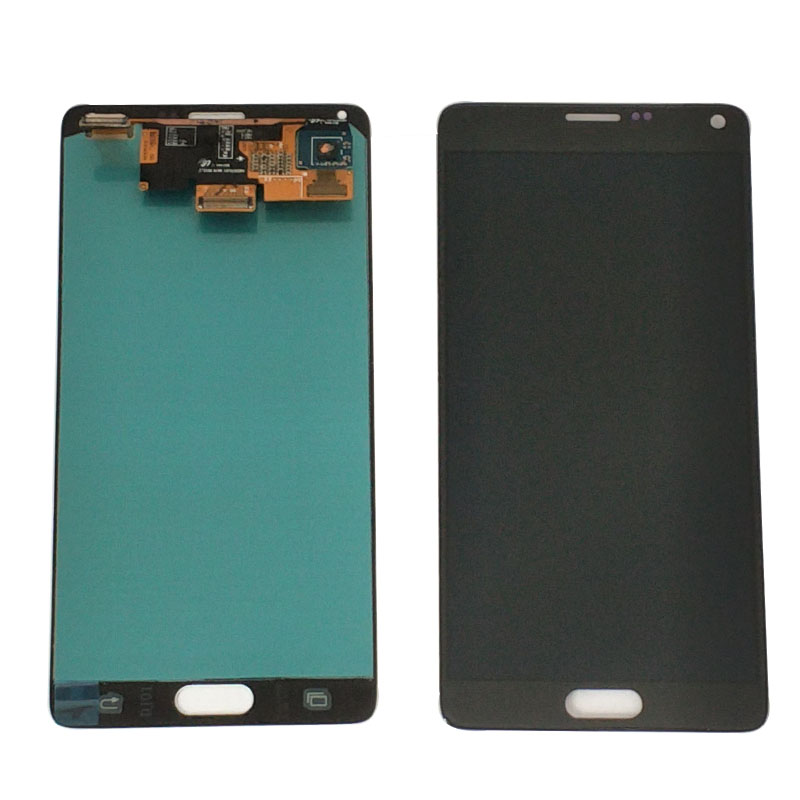 100% Original Test Brennen Schatten <font><b>LCD</b></font> für Samsung <font><b>Galaxy</b></font> Note 4 N910T N910A N910I <font><b>LCD</b></font> Display Touchscreen Digitizer Montage image