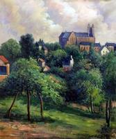 100% Hand Painted Oil on Canvas Notre Dame des Agnes, 1884 Paul Gauguin Landscape Painting for Wall Decoration