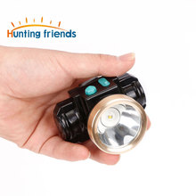 24pcs/lot 3W Mini miner lamp LED headlamp lithium battery cordless miners cap lamp for working Camping Hiking Hunting