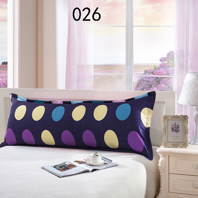 Yellow Blue Circle Cotton Double Pillowcases Long Pillow Case Bed Sack 45x120cm 45x150cm Cover