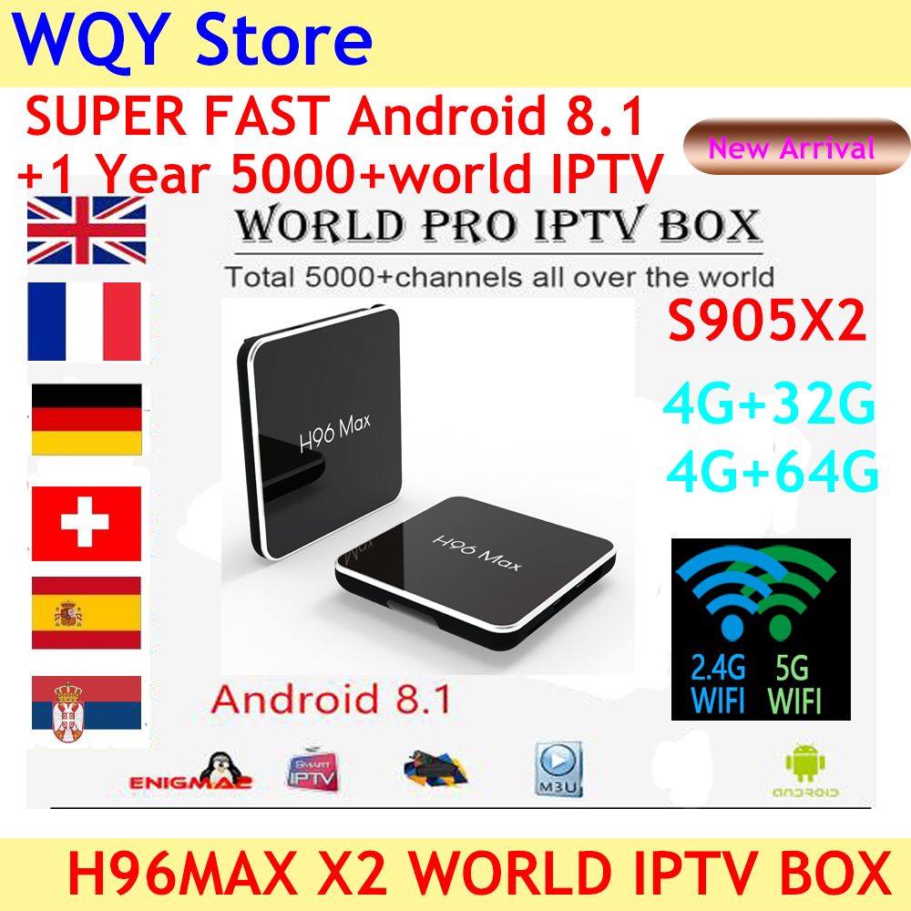 2019 NEW ARRIVAL H96 MAX X2 Android 8 1 4KH 265 smart TV Box with best