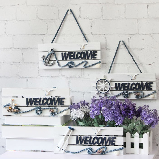 1pcs Wooden Party Signs Welcome Word Hanging Sign Board Wedding ...