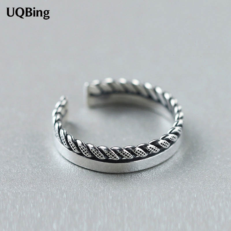 Free Shipping Jewelry Wholesale 925 Sterling Silver Open Rings For Women Jewelry Beautiful Finger Rings For Party Birthday Gift