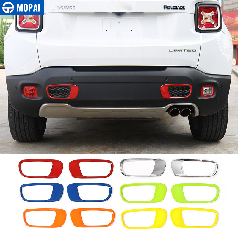цена на MOPAI ABS Car Exterior Rear Tail Bumper Tow Hook Decoration Cover Stickers for Jeep Renegade 2015-2017 Car Accessories Styling