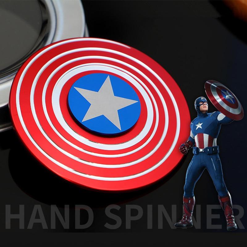 Fidget Spinner American Captain Fast Bearing Spider Finger Hand Spinner Gyro EDC ADHD Rotation Anti Stress Aluminum Alloy Man