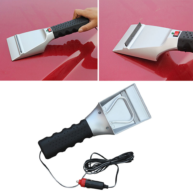 New Electric Heated Ice Scraper 12V Car Snow Scraper Melter Shovel Hight Quality Ice Scoop Use For Car Windscreen