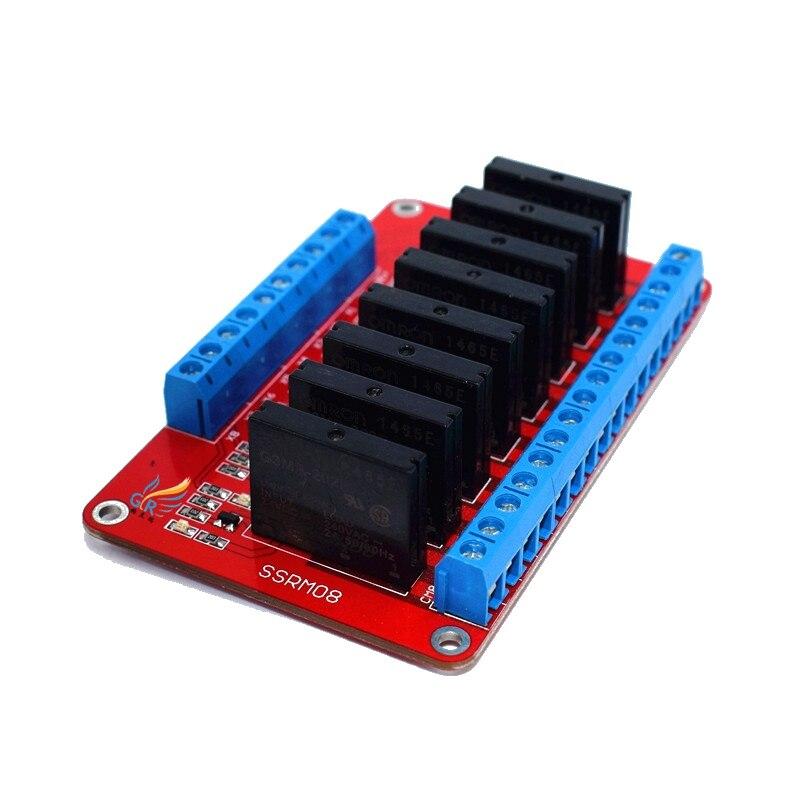 8 channel solid state relay module / high level trigger/5V/12V/24V optional