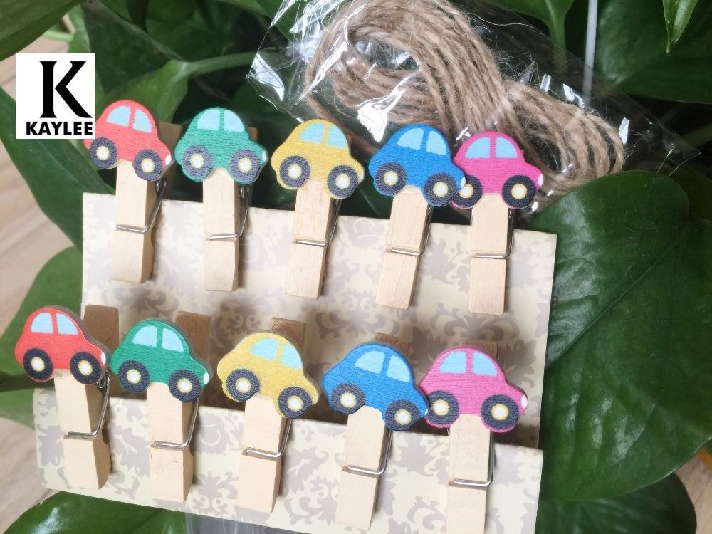 piezas de coches clips de papel de madera decorada original en papel madera clavijas