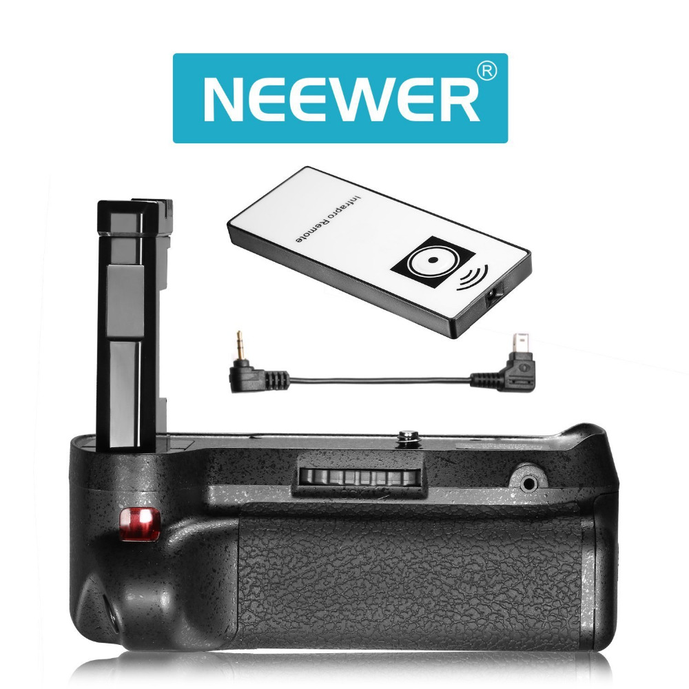 Neewer Infrared Remote Control Vertical Battery Grip Work with EN-EL1414A Battery for Nikon D3100 D3200 D3300 D5300 SLR Cameras