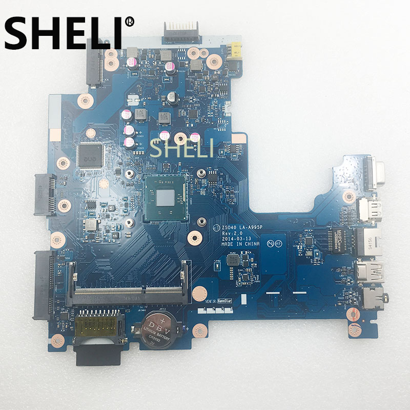 SHELI FOR HP 14-R 240 G3 Laptop Motherboard 775632-601 775632-001 775632-501 ZSO40 LA-A995P Integrated Graphics W/ N2830 CPUSHELI FOR HP 14-R 240 G3 Laptop Motherboard 775632-601 775632-001 775632-501 ZSO40 LA-A995P Integrated Graphics W/ N2830 CPU