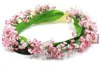 꽃 크라운 결혼식 또는 축제, 핑크 화이트 벚꽃