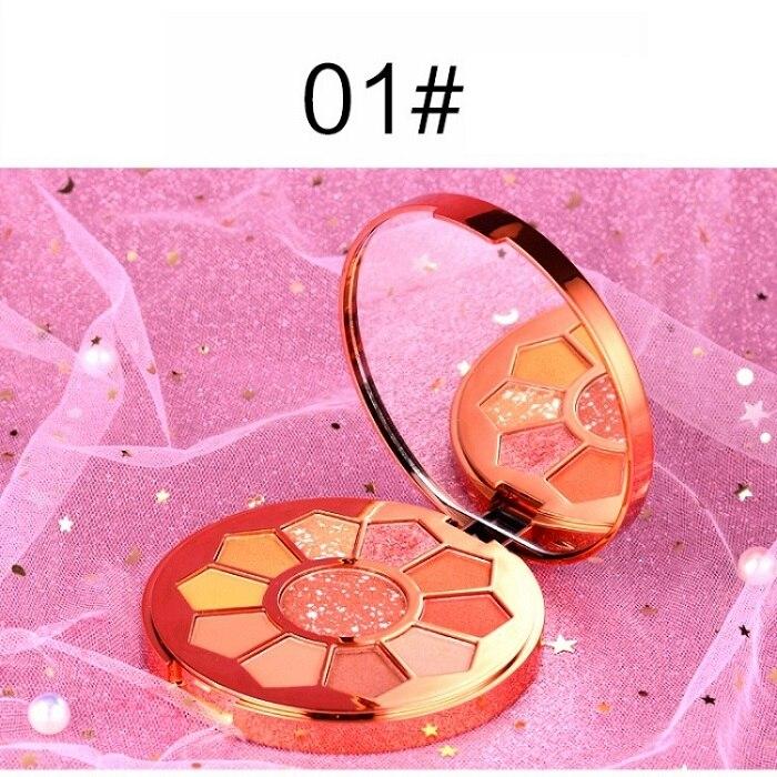 11 Colors Eyeshadow Makeup Pigments Waterproof Shimmer Glitter Eye shadow Make up Palette maquiagem - Цвет: A1