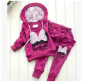 Free shipping Girls suit Bow Children's clothes  Autumn and Spring fitted Baby cartoon  Girl sports suit  Long-sleeve + pants