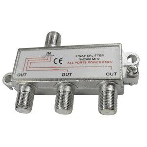 Image 3 - CLCU 3 way F plug splitter 1 into 3 out satellite sky signal splitter