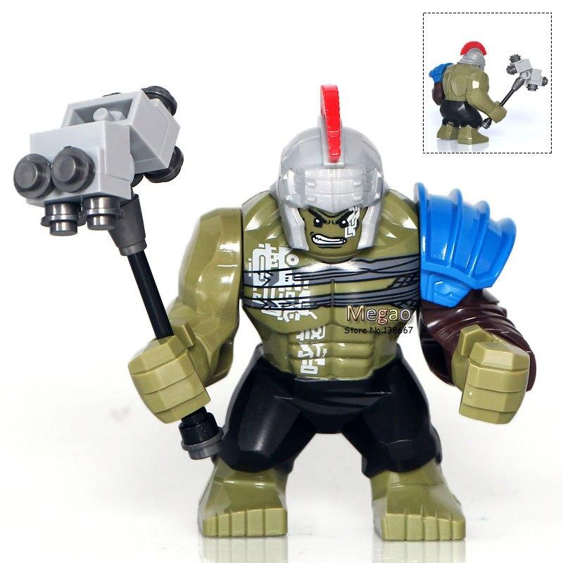 20 pcs/lot XH654 Super héros s Thor Ragnarok 76088 Hulk 7cm grande taille blocs briques enfants cadeau jouet X0165 livraison directe-in Blocs from Jeux et loisirs    1