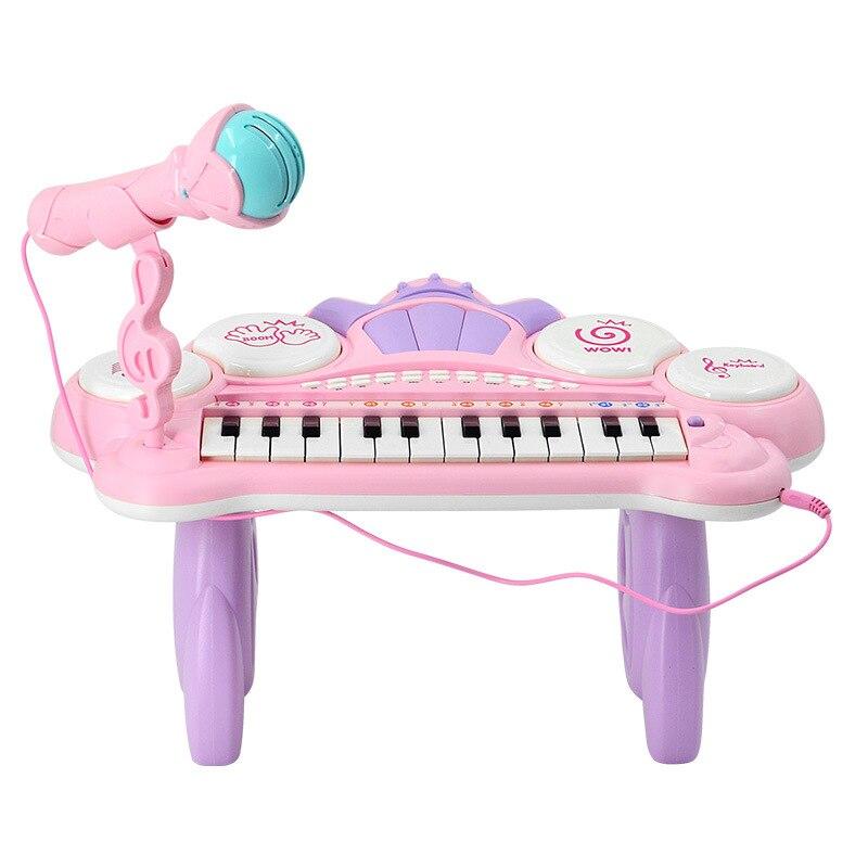 Juguetes instrumento Musical Mini micrófono Piano iluminación efectos de sonido reproducción Multimedia 1-6 años educación del bebé Pianoforte - 2