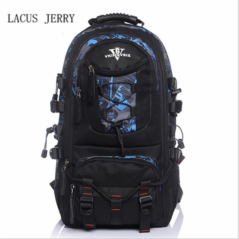 LACUS JERRY 2017 Men High Quality Fashion Travel Bags Canvas Laptop Bag Large Capacity Male Multi-purpose Backpack Free Shipping kujing backpack high quality jig wear wear denim large capacity student bag free shipping retro travel multi purpose backpack
