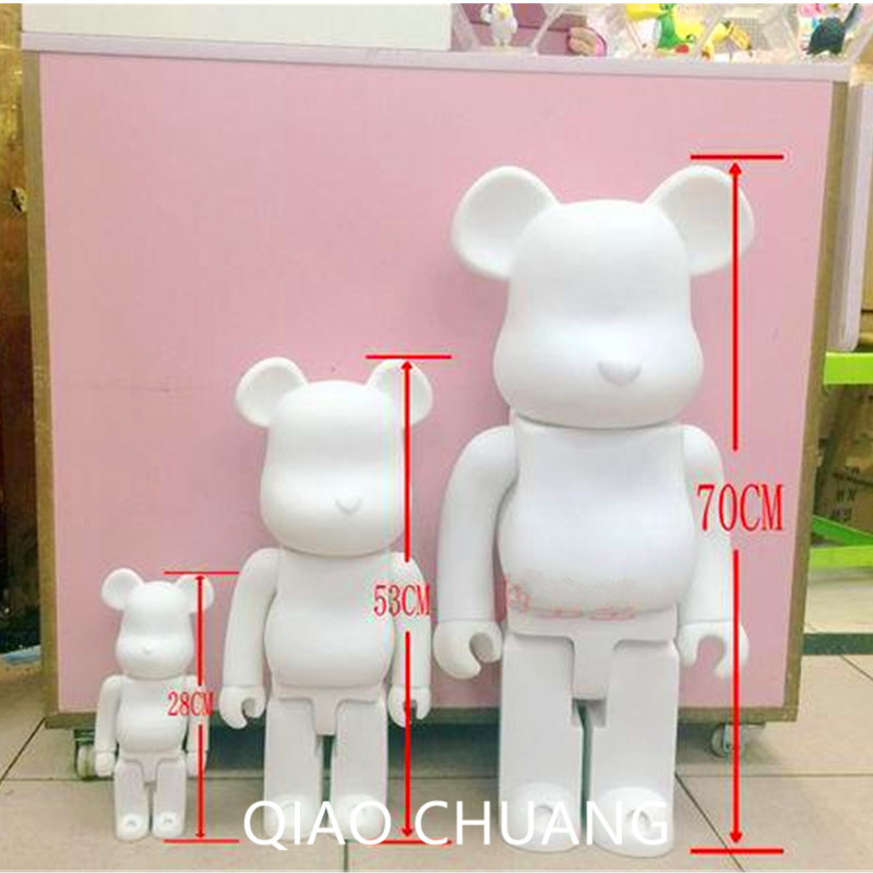 Oversized ! 28 Inches 70CM 1000% Be@rBrick OriginalFake Brian Street Art Fashion Vinyl Action Figure Collectible Model Toy S213 hot selling oversize 1000% bearbrick luxury lady ch be rbrick medicom toy 52cm zy503