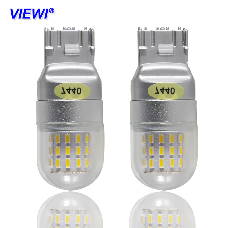 Viewi 4X T20 7440 7443 <font><b>w21</b></font> <font><b>5w</b></font> LED Bulbs Signal Brake Stop Revers lights super 4W 12V 24V auto truck car Back-UP Reverse Light image