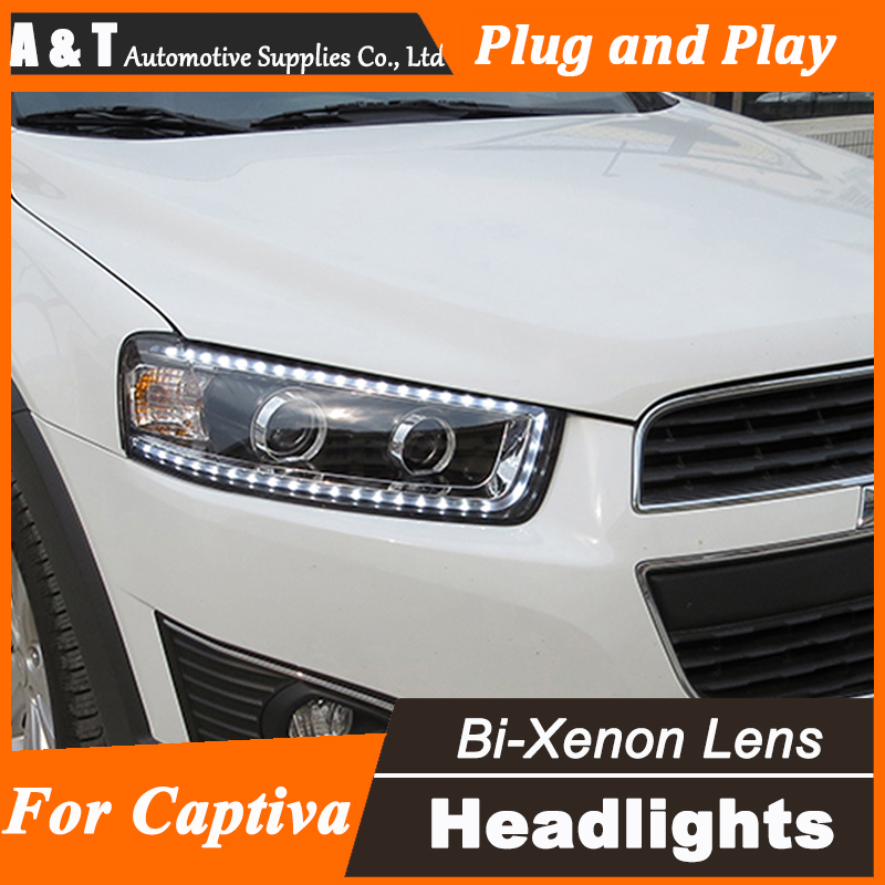 Car Styling for Chevrolet Captiva LED Headlights New Captiva led DRL Lens Double Beam H7 HID Xenon bi xenon lens chevrolet captiva fl в москве