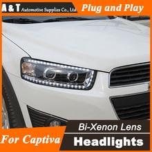 Estilo del coche para Chevrolet Captiva LED Faros Nueva Captiva led DRL Lente Doble Haz H7 HID Xenon bi xenon lente