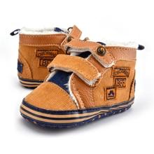 0-18 Months  Cotton Winter Warm Newborn Baby Toddler Shoes Snow Boots Newborn Unisex Fashion Patch Hook & Loop Moccasin