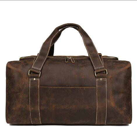 2018 New Style Genuine Leather Solid Travel Duffle For Men High Quality