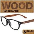 Оптических Древесины кадр очки марки мужчины женщины кадров очки occhiali gafas де-мадера masculino feminino