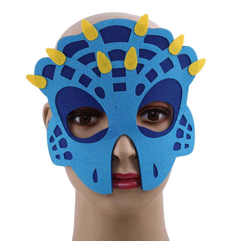Dinosaurus Masker Wajah Anak Laki-laki dan Perempuan Masker Dino Bertema Ulang Tahun Halloween Kostum Properti Foto Naga Pesta