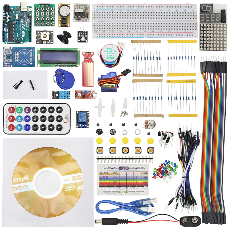 RFID Starter Kit UNO R3 KIT Upgraded Version of The RFID Learn Suite for arduino Compatible with original UNO R3 with tutorials
