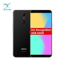 "Smartphone de reconnaissance diris Gome U7 Mini 5.47 ""4 GB RAM 64 GB ROM avant 16.0MP arrière 13.0MP MT6797 X20 2800 mAh téléphone portable dempreintes digitales"